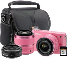 Nikon 1 J1 10.1MP Pink Digital Camera Kit....WANT THIS.