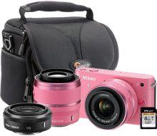 Nikon 1 J1 10.1MP Pink Digital Camera Kit....WANT IT SOO BAD!!