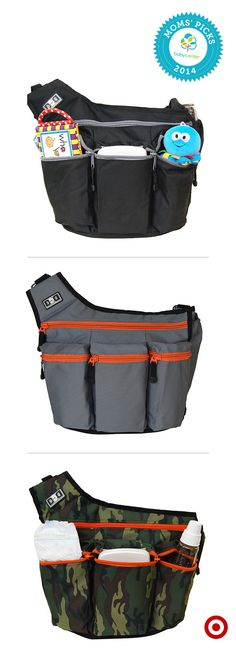 A BabyCenter Top Pick, the Diaper Dude Diaper Bag holds all the baby essentials in a cool-for-dads messenger bag.