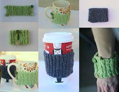 bethsco blog: Crochet Coffee Sleeves/Mug cozies.