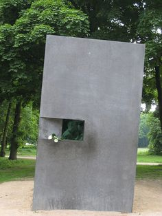 Gay Holocaust Memorial, Berlin; Strange only because I hadn't heard of it before. kn