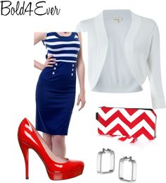 """Blue & White"" by kyleedavis on Polyvore"