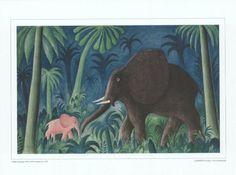 I Urskoven - Elefant med unge » Hans Scherfig » For børn