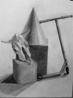 #study #skull #roller #drawing #pencil #blackandwhite Bookends, Objects, Pencil, Skull, Mirror, Drawings, Furniture, Home Decor, Decoration Home