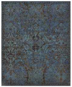 Nourison Timeless Peacock Area Rug TML02 PEACO (Rectangle)
