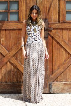 Printed maxi dress, gorgeous and yet so effortless.