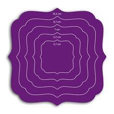 Dies carrés baroques pour Cut-it-all de Toga