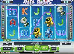 Alien Robots er et futuristisk spilleautomat fra Net Entertainment, som har 30 gevinstlinjer og muligheten til å stake doble innsatser, så det har 243 måter å vinne på  http://www.norgesautomaten-gratis.com/spilleautomater/norgesauomaten-alien-robots  #Norgesautomaten #Spilleautomater #Jackpot #AlienRobots