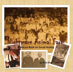"The front cover of ""Nightmare Animal Farm: A mature book on social healing"""