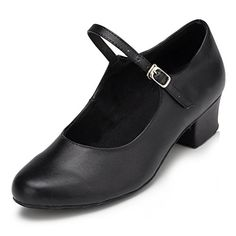 Kevin Fashion Womens Mary Jane Black Leather Character Dance Shoes 10 M US ** You can get more details by clicking on the image. (This is an affiliate link) #WomensBalletandDanceShoes