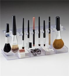 Best option I've found so far, both in price and aesthetics, for drying makeup brushes properly. It can be wall-mounted!