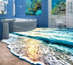 Cheap 3D pvc autoadhesivo papel pintado 3D floor 3D baño playa piso playa de surf de pie de mar mundo submarino, Compro Calidad Papel Pintado directamente de los surtidores de China: customize 3d wallpaper 3d floor bathroom wallpaper 3D spiral patterns texture floor VideosUSD 52.89/square metercustomiz