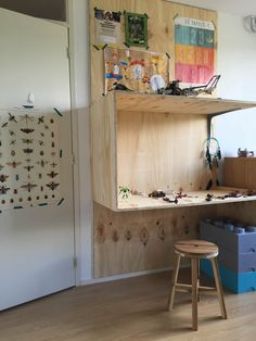 Study Nook, Wall Bookshelves, Kidsroom, Little Houses, House In The Woods, Office Interiors, Boy Room, Plywood, Anton