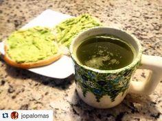 @jopalomas nos comparte su desayuno junto a su infaltable #TéMatcha para su largo día de estudio para hoy! Este increíble té verde te ayuda mantenerte con energía durante el día y calmar tu mente ante el estrés!  Puedes hacer tu pedido online en www.matchachile.com #DailyMatcha