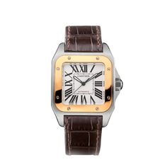 Santos 100 watch, medium model - Automatic, pink gold - Fine Timepieces for men and for women - Cartier