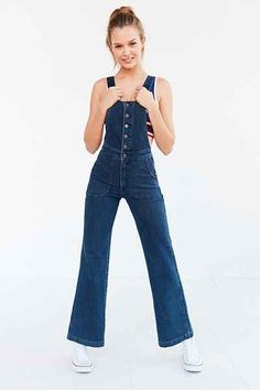 Wrangler High-Rise Bell-Bottom Overall