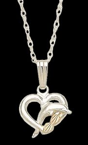 Black Hills Gold Dolphin Necklace