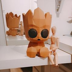Cristina added a photo of their purchase Diy Paper, Paper Art, Paper Crafts, Diy Crafts, Groot Toy, Baby Groot, Polygon Art, Disney Princess Art, Educational Games For Kids