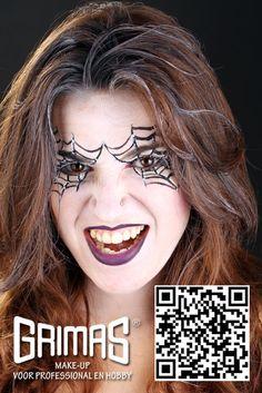 Mujer araña - www.maquillador.eu, ejemplos de maquillaje