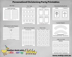 Chevron Christening Baptism Dedication Party Printables