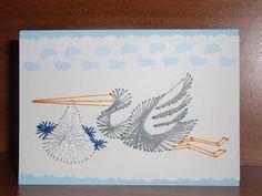 Vesna ustvarja: BABY BOY CARD