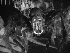 vintage horror giant spider