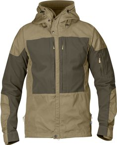 Jacket Details and Sizing Well-ventilated outdoor jacket for long mountain treks in varying terrain, when freedom of movement is just as important as durability, protection from sharp stones, etc. Thi