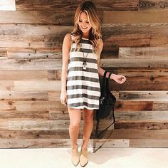 Such a great transition outfit styled by @laurenkaysims! Need this dress? Shop it @nordstrom!