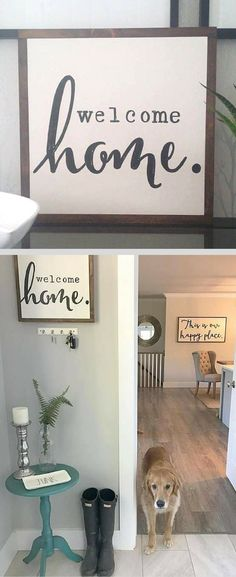 Welcome home wood sign, Entryway sign, Living room decor, home decor, Farmhouse decor, Farmhouse sign, Rustic decor, Rustic sign, housewarming gift idea #ad