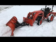 Homemade snow plow for Kubota B2601 - YouTube Tractor Accessories, Snow Plow, Kubota, Cool Tools, Old Trucks, Tractors, Homemade, Cool Stuff, Youtube