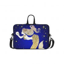 InterestPrint Custom Gold Mermaid with Human Skull Starry Night 15.4  - 15.6  /Macbook Pro 15 Inch Laptop Sleeve Case Bags Skin Cover for Lenovo, GW, Acer, Asus, Dell, Hp, Sony, Toshiba