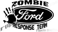 "Custom Zombie Response Decal Ford Trucks Cars Windows Bumper Stickers 14"" $29.95 via @Shopseen Car Window Stickers, Window Decals, Bumper Stickers, Truck Tailgate, Custom Trucks, Ford Trucks, Laptop, Zombies, Cars"