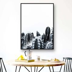 Cactus Wall Print/Black and White Cactus/Flower/Arizona/Sky/Summer/Vacations/Trip/Travel/Wall Art/Printing/California Summer Vacations, Vacation Trips, Frame Download, Travel Wall Art, International Paper Sizes, Cactus Flower, Botanical Art, Poster Wall, All Design