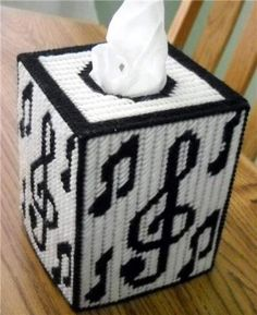 Everything Plastic Canvas - Musical Tissue Box Cover