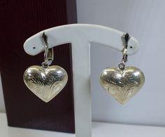 Vintage Ohrstecker - 935 Silber-Ohr-Clips Trachten Herz Ohrringe SO160 - ein Designerstück von Atelier-Regina bei DaWanda