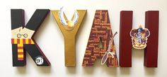 Harry Potter Gryffindor letters by ShopLiamSloane on Etsy