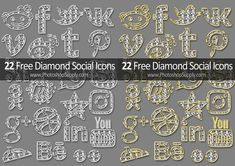 Free Social Media Icons Diamond Style Social Media Icons, Social Networks, App Icon, Design Projects, Photoshop, Highlight, Diamond, Early 2000s, 2000s Fashion