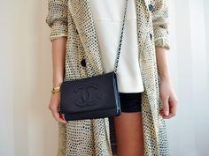 Phillip Lim silk trench/ Chanel bag
