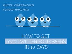 Day 3 - Get 1,000 Twitter Followers in 10 Days [#1kfollowers10days #GrowthHacking] Get Twitter Followers, Growth Hacking, Got 1, 10 Days, Social Media Marketing, How To Get, Technology, Posts, Blog