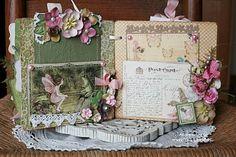 once upon a springtime mini scrapbook album http://www.piecesofhomedesigns.blogspot.com