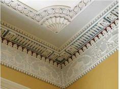 Ornate crown molding  Gaillard Bennett House   Charleston
