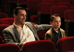 "Don takes son Bobby (Mason Vale Cotton) to the movies, Season 6, Ep. 5, ""The Flood"""