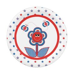 4th of July Party Paper Plate