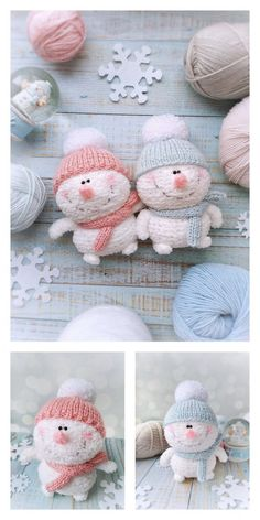 Amigurumi Small Snowman Free Pattern – Amigurumi Free Patterns And Tutorials Crochet Dolls Free Patterns, Christmas Crochet Patterns, Crochet Doll Pattern, Christmas Knitting, Craft Patterns, Crochet Snowman, Crochet Birds, Crochet Buttons, Crochet Crafts