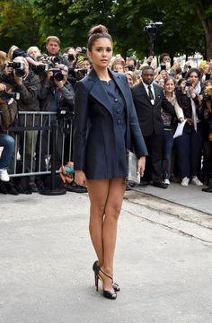 Nina Dobrev – Chanel Fashion Show During Paris Fashion Week – July 2014 Celebrity Style 2014, Celebrity Pictures, Couture Week, Haute Couture Fashion, Chanel Couture, Lysandre Nadeau, Nina Dobrev Style, Femmes Les Plus Sexy, Look Fashion
