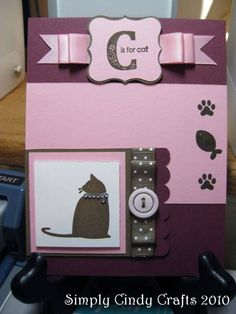 Stampin' Up! C is for Cat.