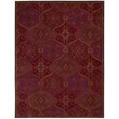 Home Decorators Collection | Nourison India House IH88 Red Rectangle Area Rug 8Feet by 10Feet 6Inches 8 x 106 *** Want additional info? Click on the image(It is Amazon affiliate link). #tagblender