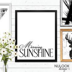 Morning Sunshine, Inspirational Print, Quote, Wall Art, Goodmorning, Scandanavian print, Motivational, Home Decor, Print 8x10, Digital Art
