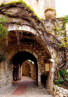 In Eze, France.