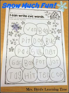 Mrs. Byrd's Learning Tree: Snow Much Fun!